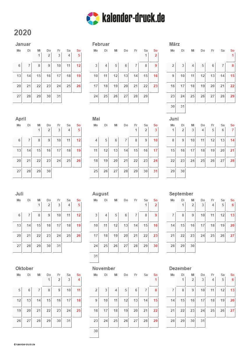 Kostenlos Kalender Zum Selbst Ausdrucken Für 2019 Und 2020